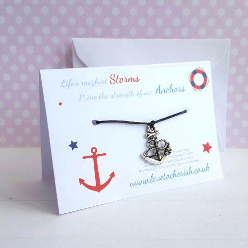 Life's Roughest Storms ..... Anchor Friendship / Wish Bracelet