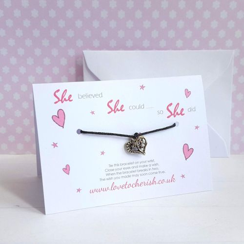 She Believed She Could So She Did Friendship / Wish Bracelet