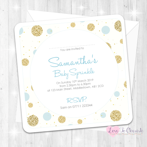Polka Dot - Blue - Baby Sprinkle Design