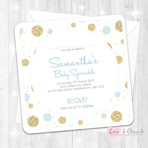 Polka Dot - Blue - Baby Sprinkle Design