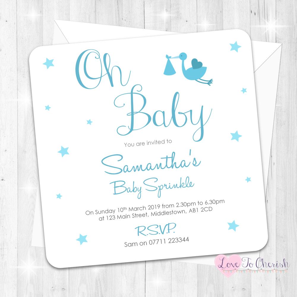 Oh Baby - Blue - Baby Sprinkle Design