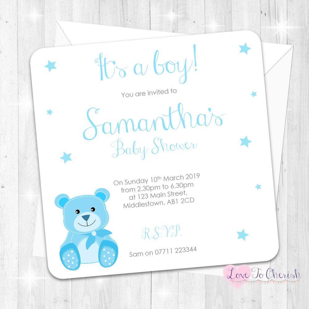 Cute Baby Bear - Blue - Baby Sprinkle Design