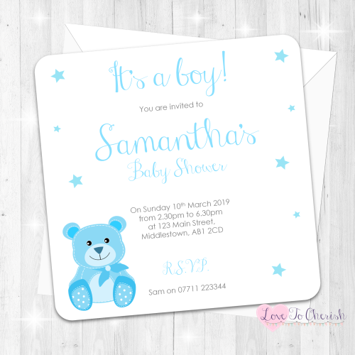 Cute Baby Bear - Blue - Baby Sprinkle Design