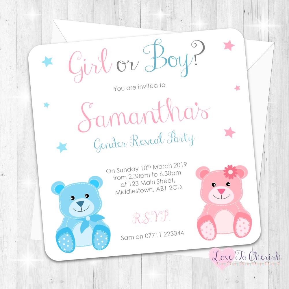 Baby Bear - Boy or Girl- Gender Reveal Party Design