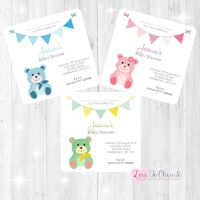 Cute Teddy Bear Invitations - Baby Shower Design