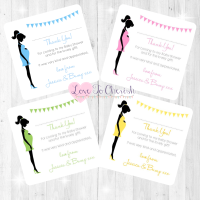 Mummy Bump Thank You Cards - Baby Shower Design