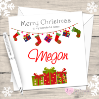 Stockings & Gifts Personalised Christmas Card