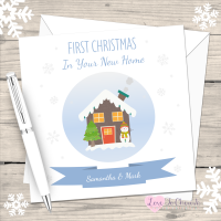 First Christmas In Your New Home Personalised Christmas Card