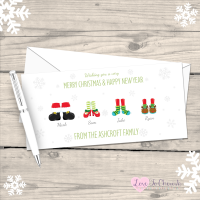 </004>Christmas Feet Personalised Family Christmas Cards