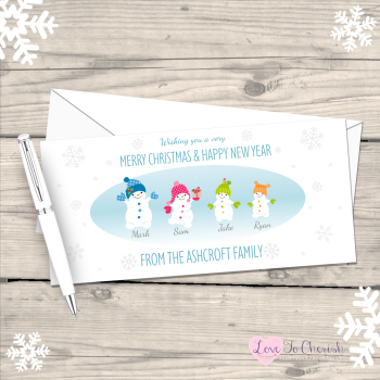 Snowboys and Snowgirls Personalised Family Christmas Cards