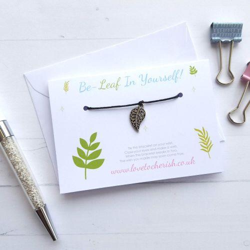 Be-Leaf (Believe) In Yourself - Friendship / Wish Bracelet