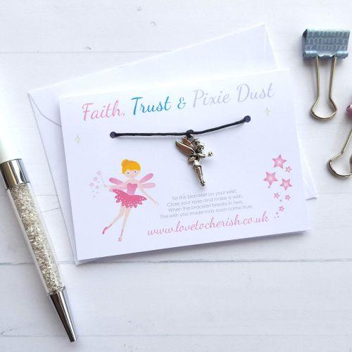 Faith, Trust and Pixie Dust - Friendship / Wish Bracelet