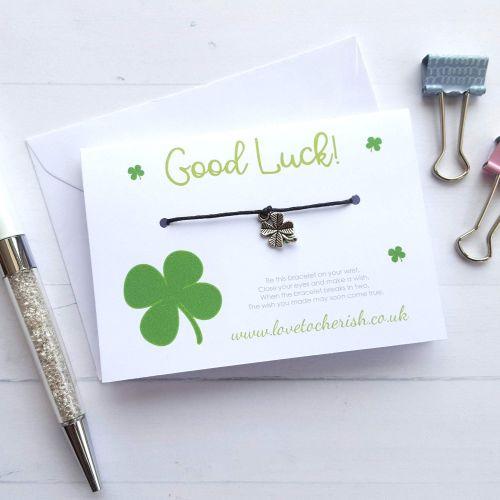 Good Luck Clover - Friendship / Wish Bracelet