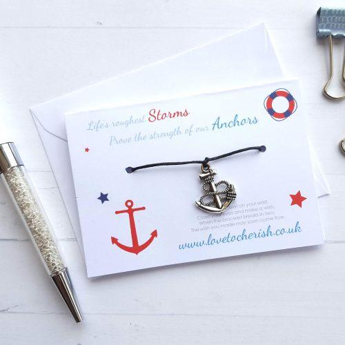 Life's Roughest Storms ..... Anchor - Friendship / Wish Bracelet