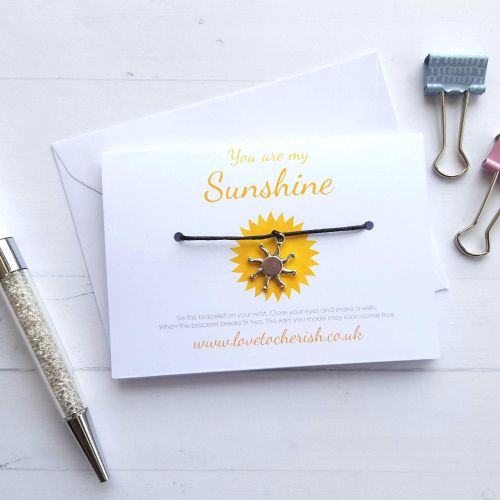 You Are My Sunshine - Friendship / Wish Bracelet