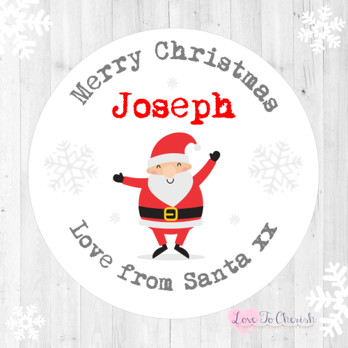Santa Claus Personalised Christmas Stickers