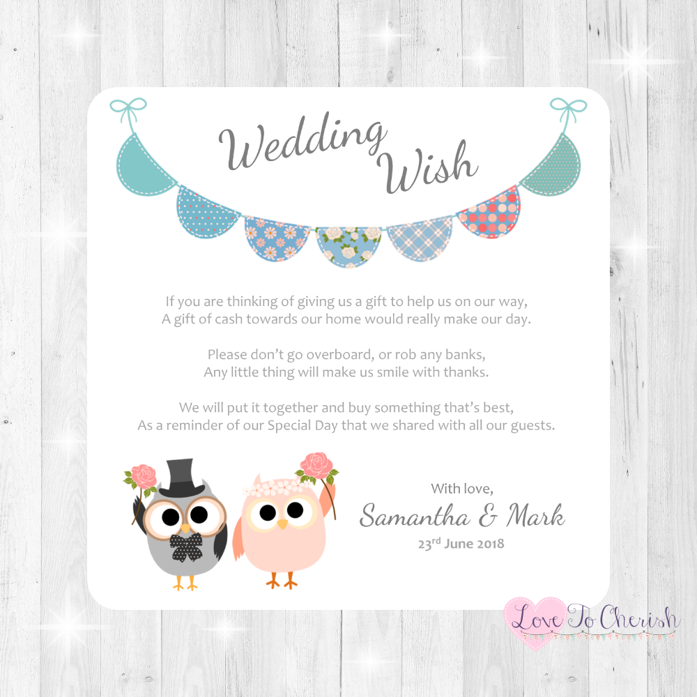 Honeymoon & Wedding Wish Cards