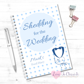 Shedding for the Wedding - Men's Personalised Wedding Food Diary | Love To Cherish