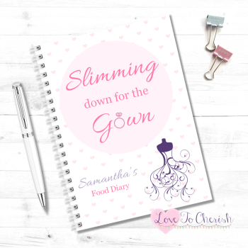 Slimming down for the Gown - Personalised Wedding Food Diary | Love To Cherish