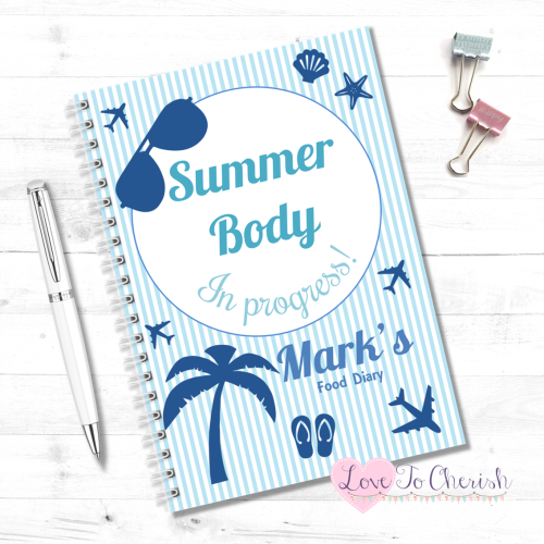 Summer Body In Progress - Men's Personalised Food Diary | Love To Cherish