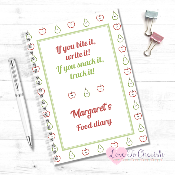 If You Bite It, Write It!  If You Snack It, Track It! - Personalised Food Diary