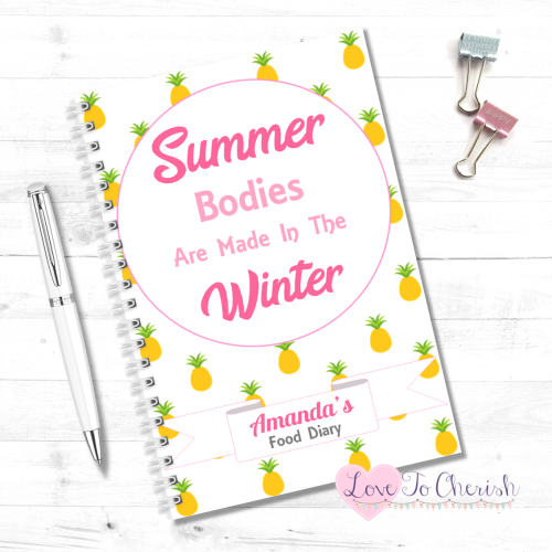 Summer Bodies Are Made In The Winter - Personalised Food Diary | Love To Ch