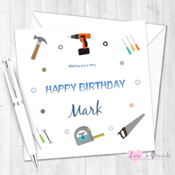 DIY Lover Personalised Birthday Card