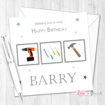 DIY Mad Personalised Birthday Card