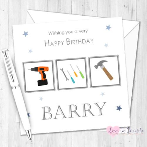 DIY Mad Personalised Birthday Card   Love To Cherish