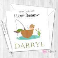 Fishing Boat Personalised Birthday Card