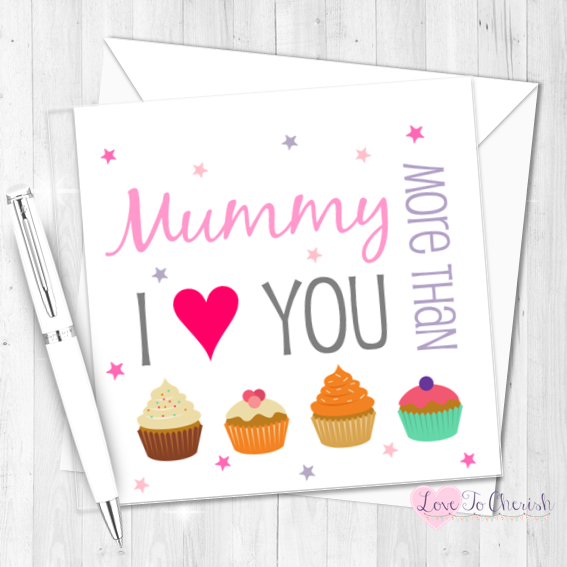 I Love You More Than Cupcakes Personalised Birthday Card   Love To Cherish