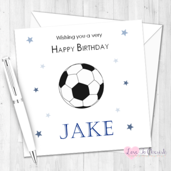 Football Personalised Birthday Card
