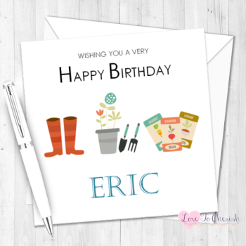 Gardener Personalised Birthday Card