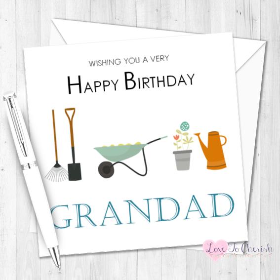 Gardening Personalised Birthday Card   Love To Cherish