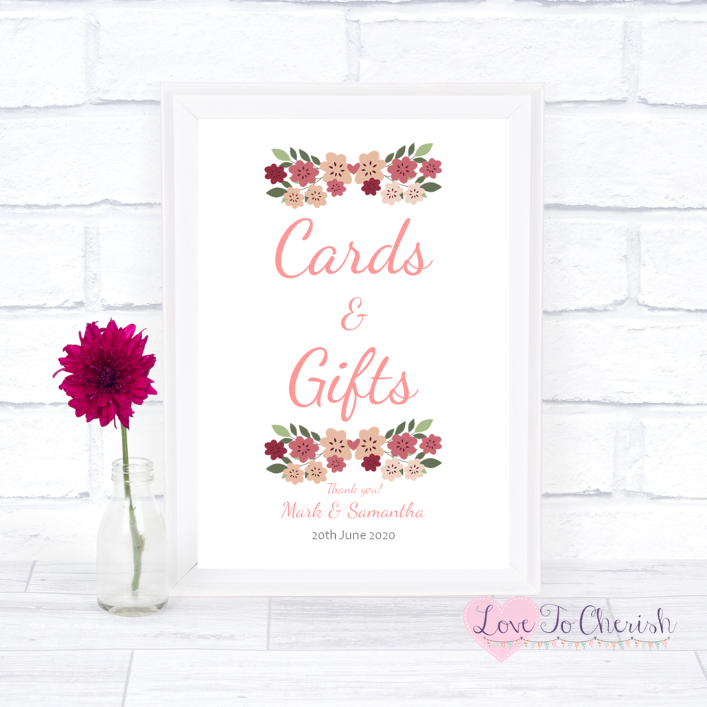Vintage Wedding Gifts: Cards & Gifts Wedding Sign