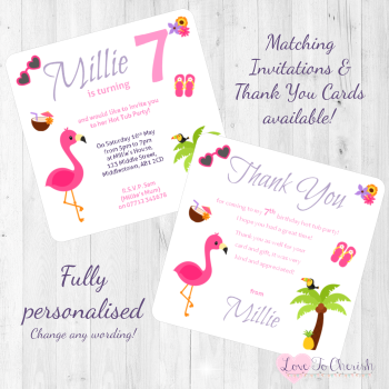 Hot Tub / Tropical Theme Party Invitations & Thank You Cards