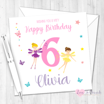 Fairy Princess Personalised Birthday Card