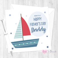 Sailing Boat Personalised Father's Day Card