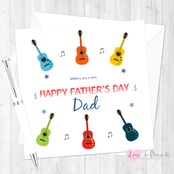 Guitars Personalised Father's Day Card