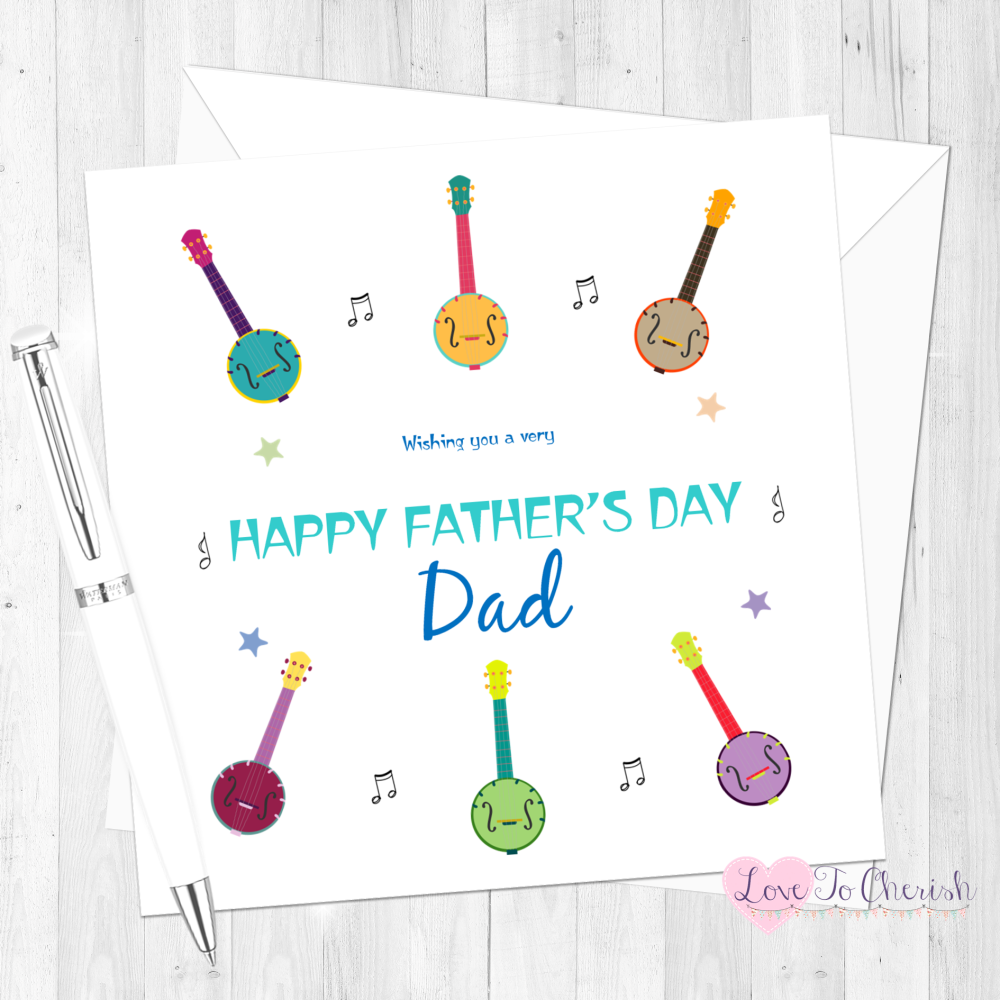 Banjo Personalised Father's Day Card