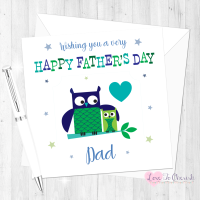 Cute Owls Personalised Father's Day Card