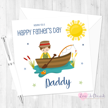 Fishing Personalised Father's Day Card