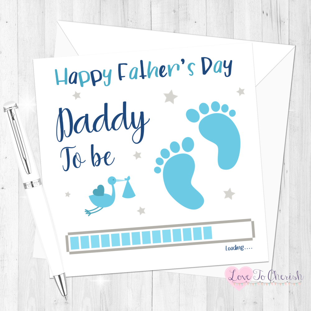 Daddy To Be Personalised Father's Day Card from Baby Boy