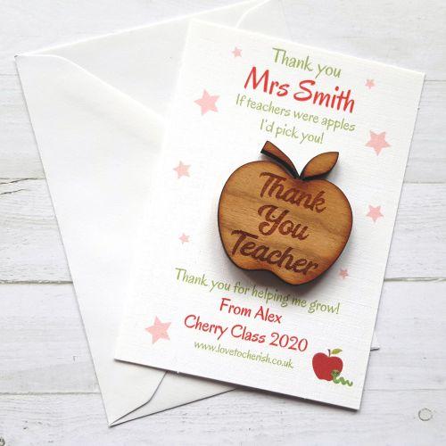 Apple Wooden Keepsake / Token for Teacher