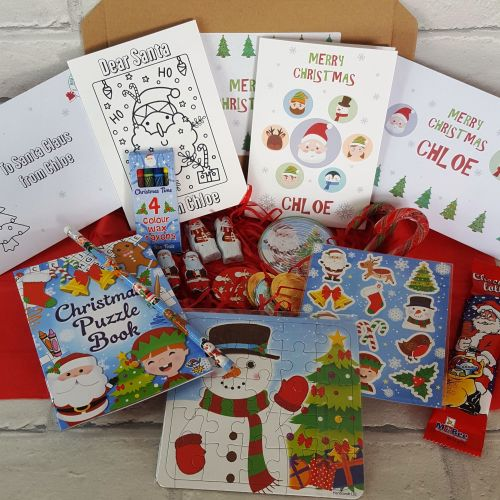 Christmas Activity Treat Box - Personalised Cards - Letterbox Gift