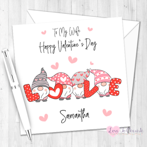 Love Gnomes Personalised Valentine's Day Card