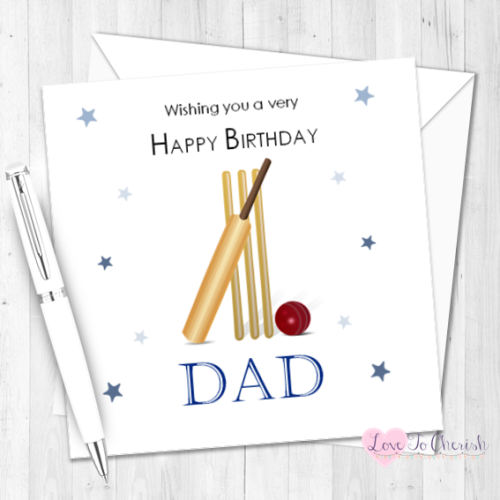 Cricket Personalised Birthday Card