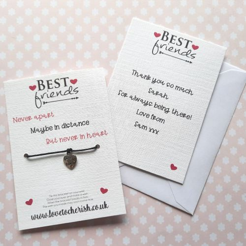Best Friends Never Apart Maybe In Distance But Never In Heart Wish Bracelet