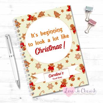 It's beginning to look a lot like Christmas -  Personalised Christmas Food Diary