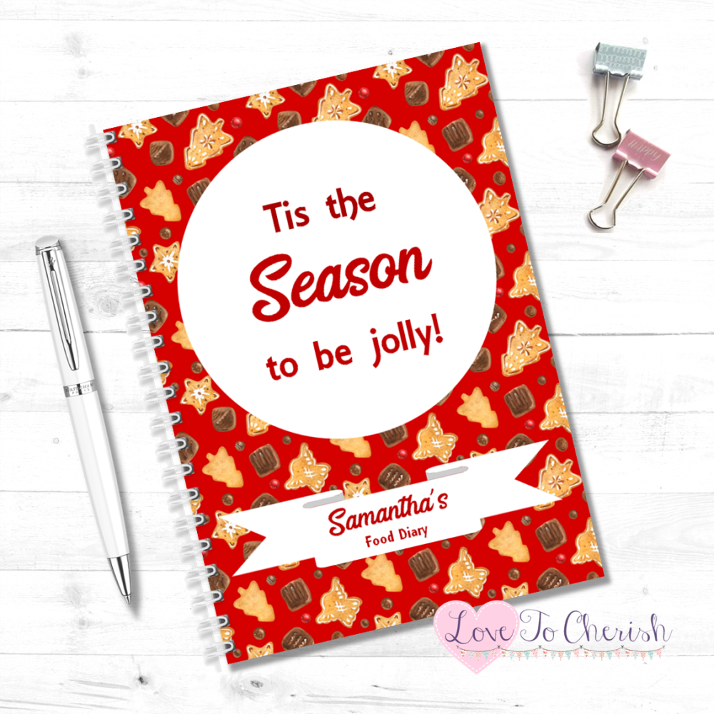 Tis the season to be jolly! -  Personalised Christmas Food Diary